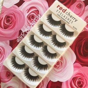 Other - (5) Red Cherry Eyelashes + 1 clear Glue